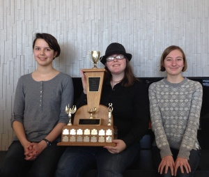 Westdale coders (L-R) Nicola Lawford, Brigitte Ziemann and Sylvia Kukucska are on their way to regionals.