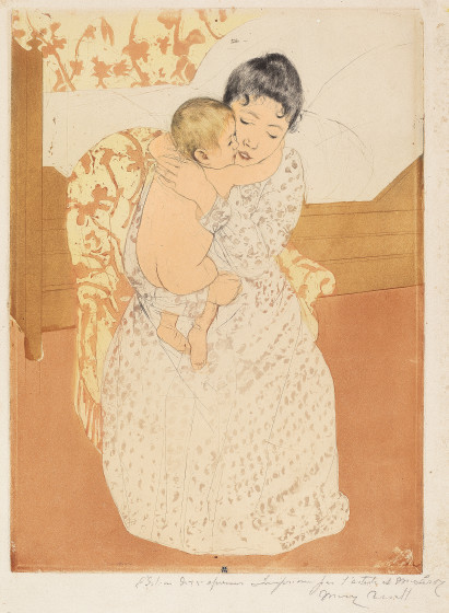 """Love is a portion of the soul itself and it is of the same nature as the celestial breathing of the atmosphere of paradise.""  Victor Hugo    Artwork by Mary Cassatt"