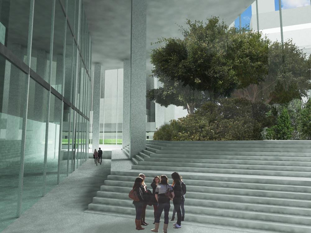 interior/mezzanine area rendering