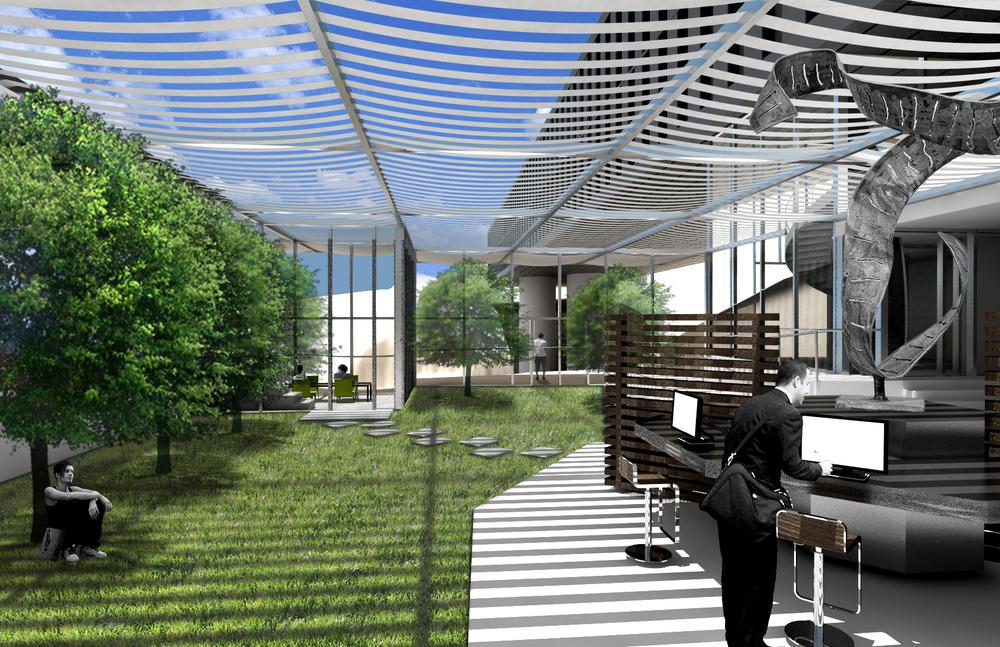 library/garden rendering
