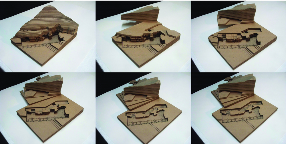 section model of cave area