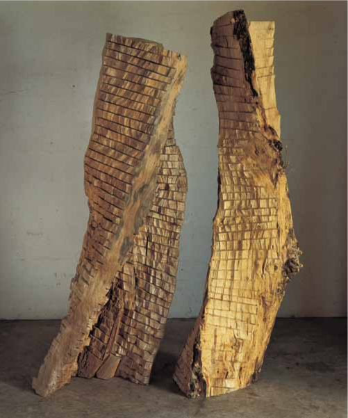 Apollo and Daphne , 1994. Box elder, dimensions variable, Apollo (left): 108 x 42 x 36 inches, Daphne (right): 114 x 42 x 36 inches. Corcoran Gallery of Art, Washington, D.C.