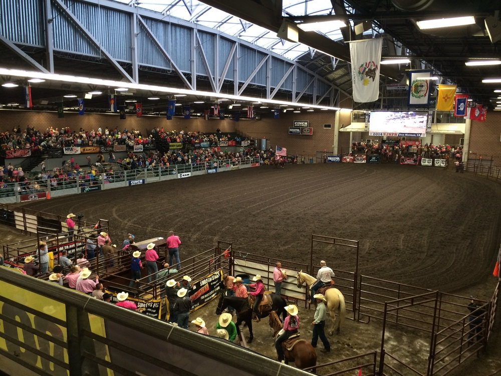 I thought I should throw in a picture of the Junior High Finals Rodeo just to give you the scope of how big a production the rodeo has become.  This was one of the two indoor arenas used during the rodeo.