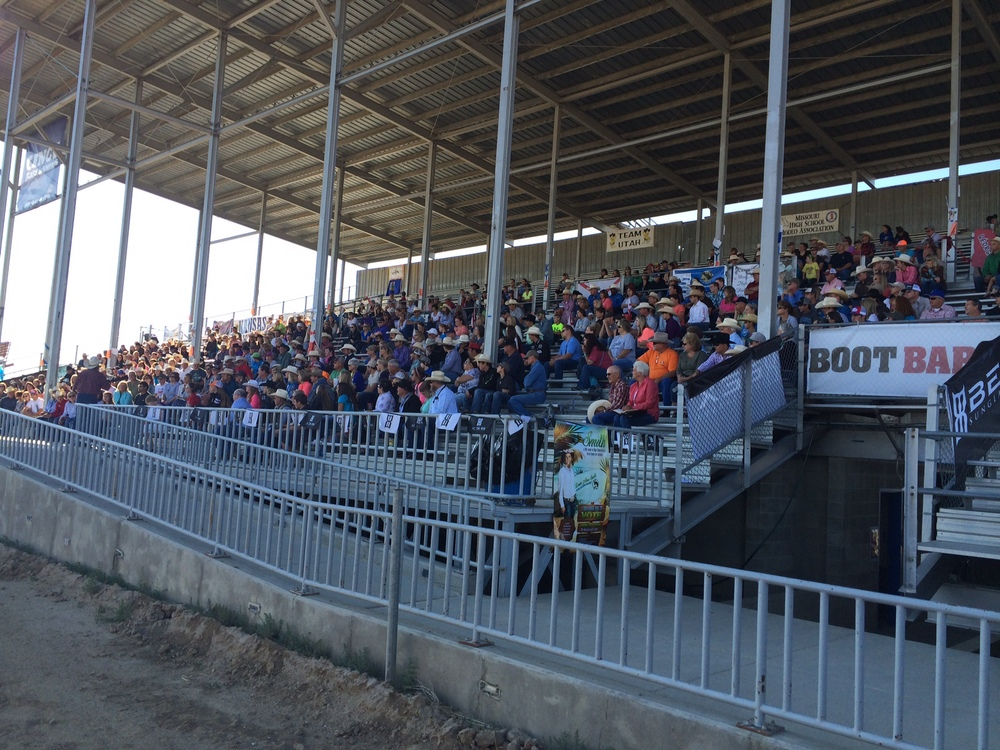 Here's the crowd from our Cowboy Church Service on the first day of the 2014 National High School Finals Rodeo.  We had a great turnout!
