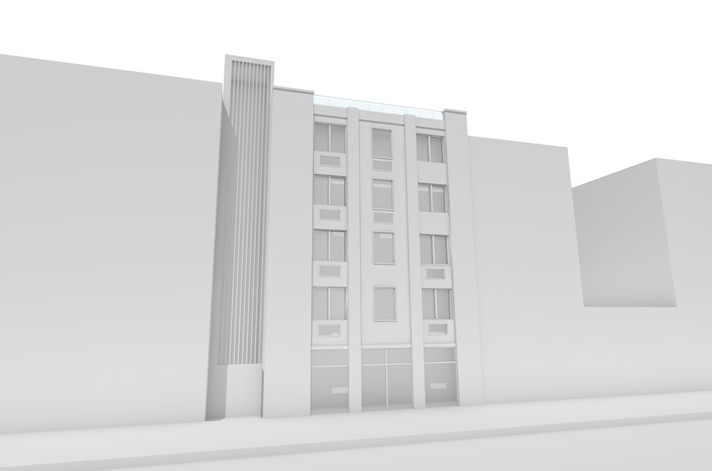 Sketch Rendering of DOB Approved Building