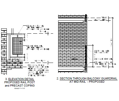 Balcony Guardrail Details
