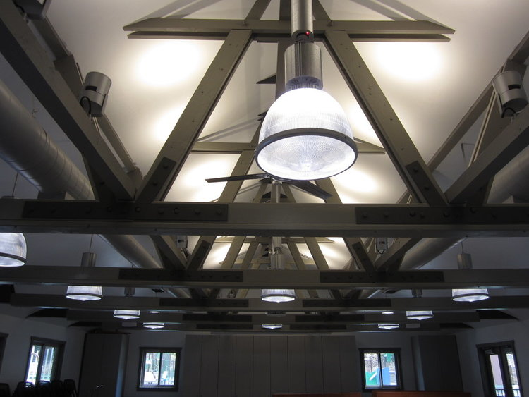 Ceiling Truss and Lighting - After