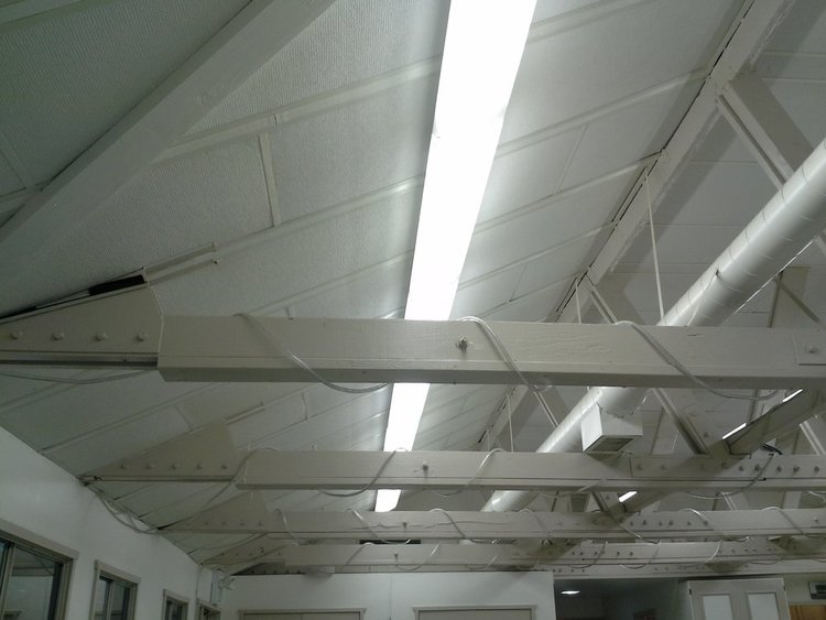 Ceiling Truss and Lighting - Before 2