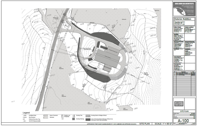 Industrial Building Addition Site Plan