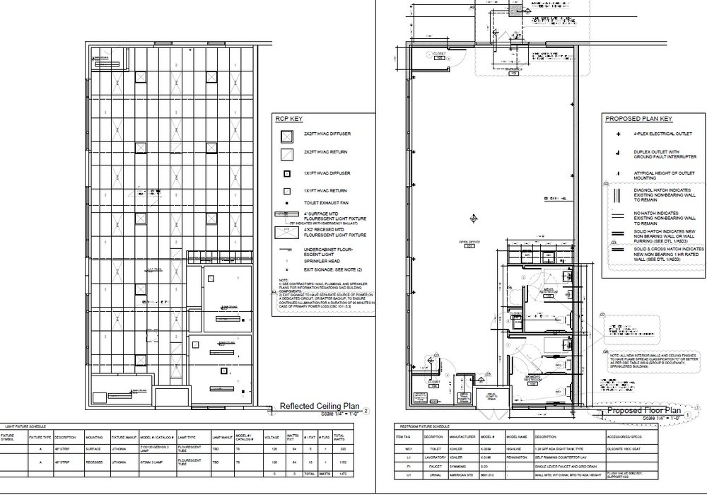 Industrial office tenant improvement floor plan and reflected ceiling plan.jpg