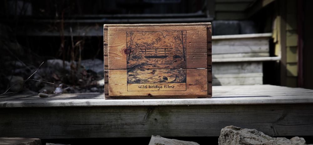 Wild Bridge Films on a crate