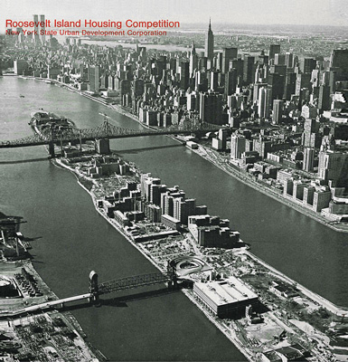 Roosevelt Island in 1974, NYS UDC