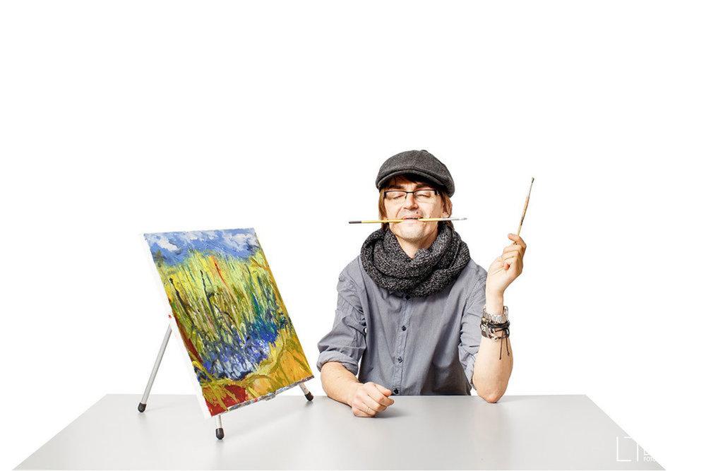 Teacher's portraits by Laima Drukneryte
