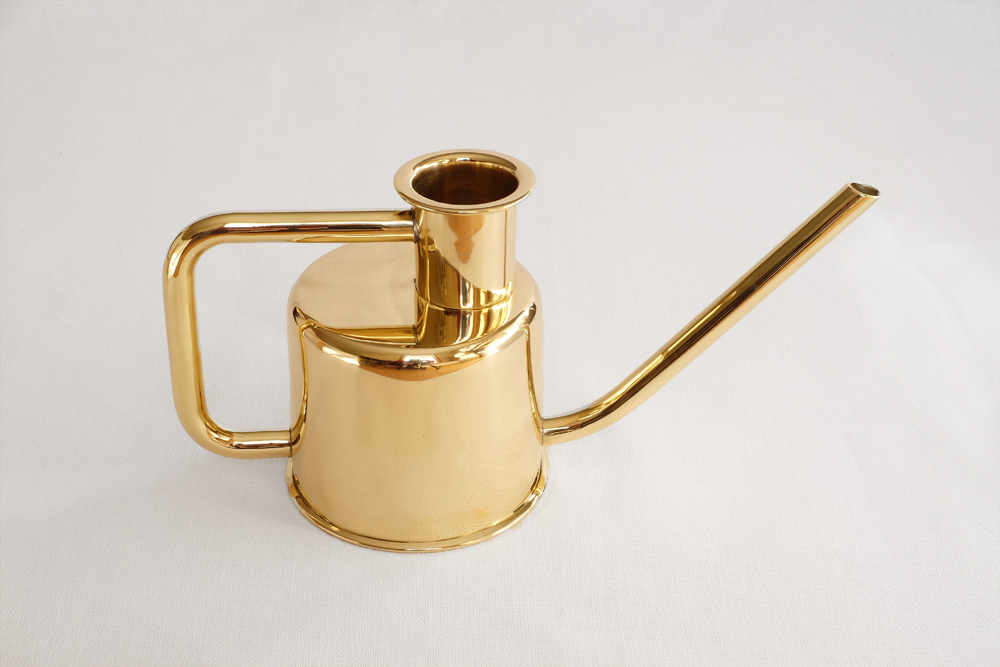 x3 Watering Can - Solid Brass