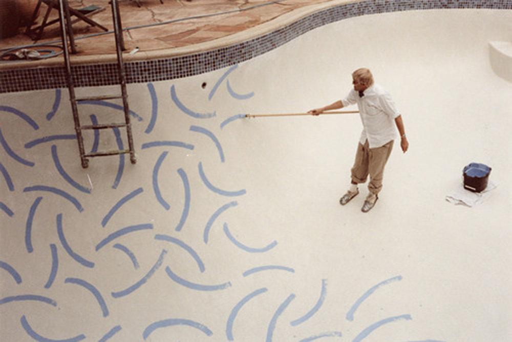 David Hockney   Hollywood Roosevelt Pool   The New Amity Workshop