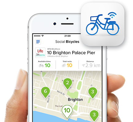How do I sign up? - Download the Social Bicycles mobile app for iPhone or Android and cycle for more than 30 minutes to receive your exclusive Rider Rewards.