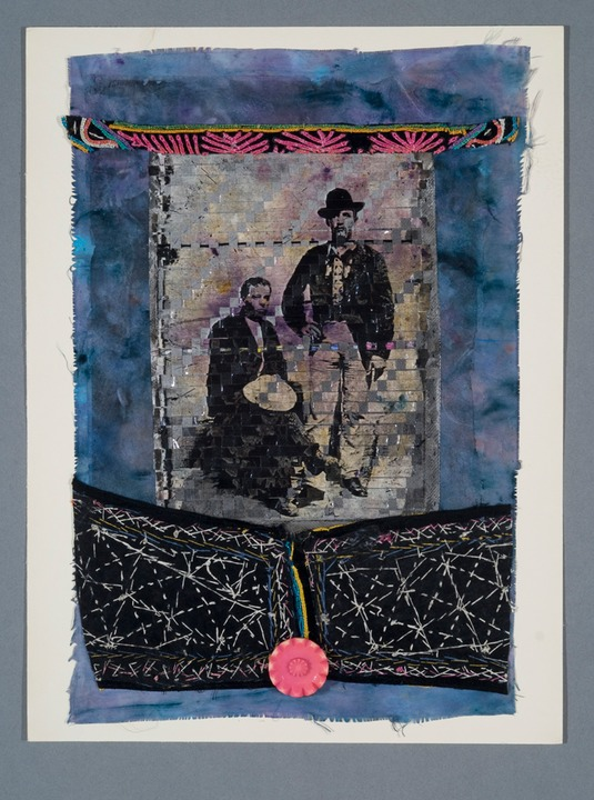 "Gail Skudera,  Passion Flower , 2011, Woven mixed media, 24.5"" x 18"", $1,200"