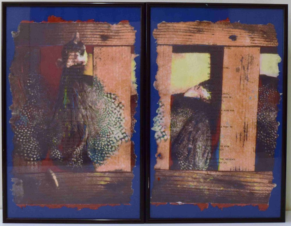 Greg Shattenberg,  Reality,  1989, Mixed media triptych, 22 x 17 inches (closed)