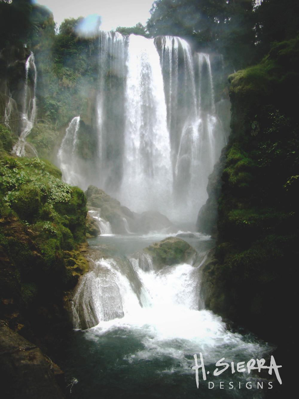 Pulhapanzak Waterfall.