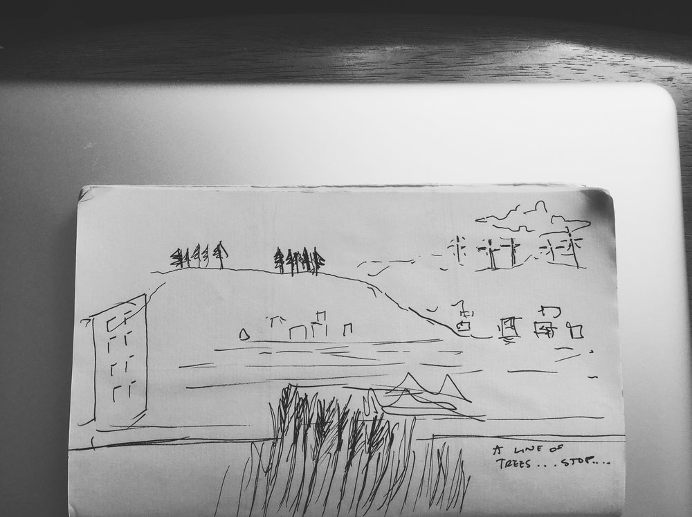 quick sketch. remembering a moment.