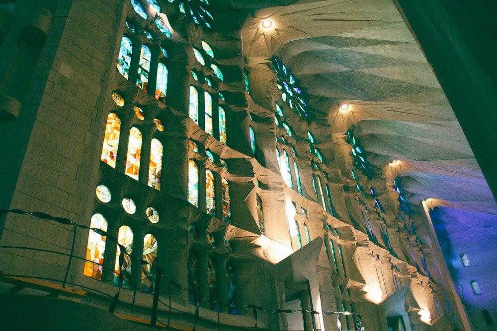Inside Sagrada Familia. Taken in September 2016 on my recent trip to Barcelona.