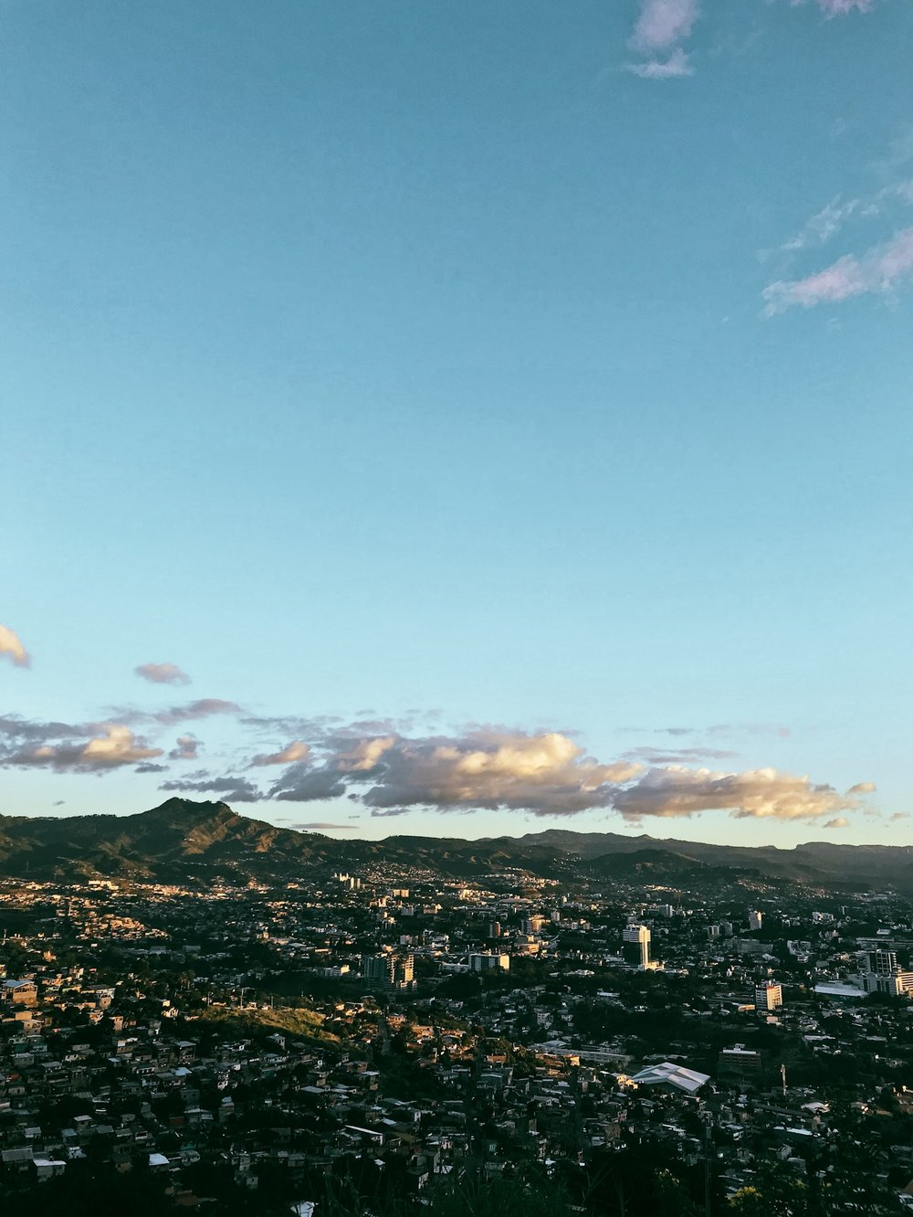 View of Tegucigalpa, taken several days after the elections.