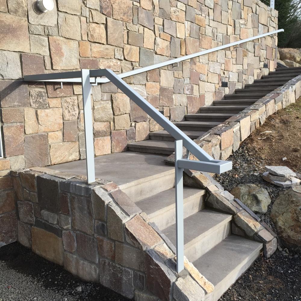 Painted Steel grab rail.  Designed by Pete Retondo Architecture