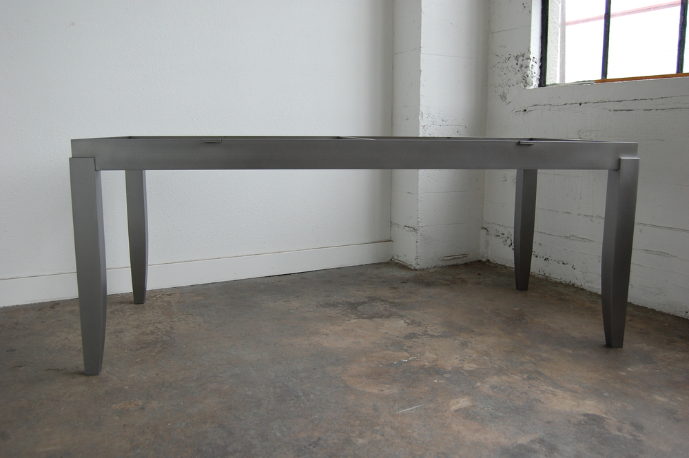 Sanded Steel Dining Table Base.  Designed by Group Jake Collaborative