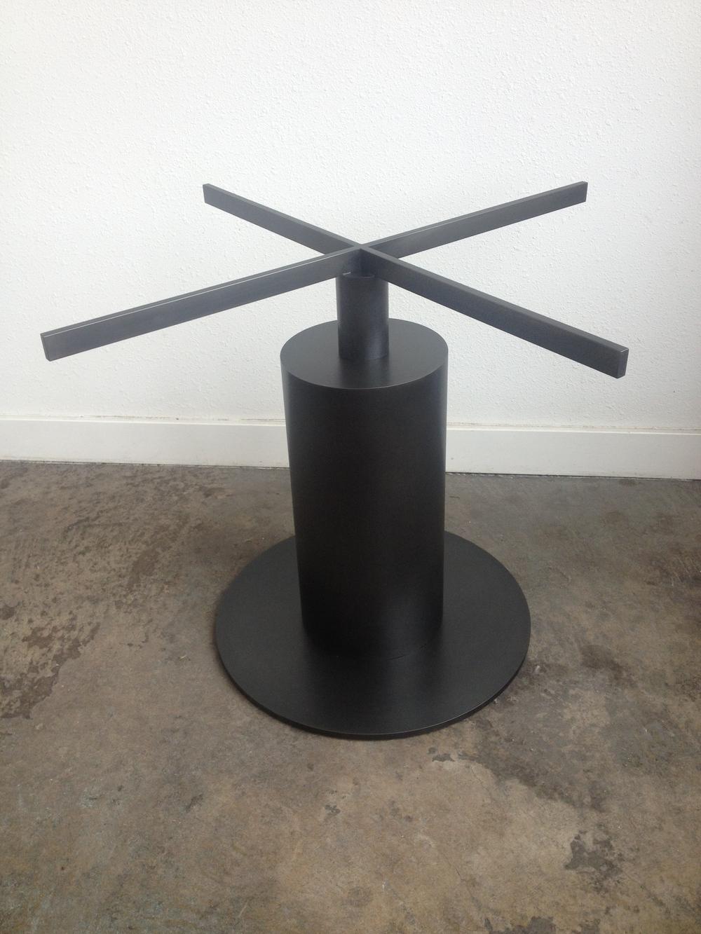 Blackened Steel Dining Table Base.  Designed by Hensel Design Studios