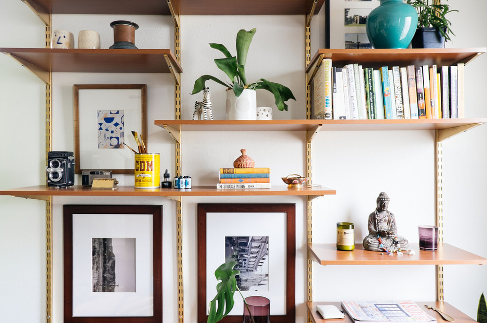 diy shelving system | DIY Mid-Century Desk Wall Unit — OLD BRAND NEW