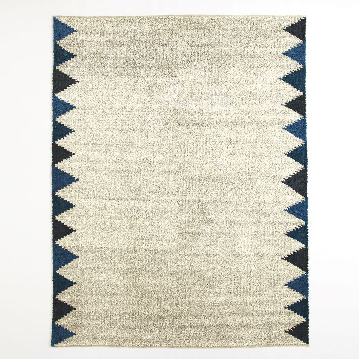 Triangle Wool Shag Rug