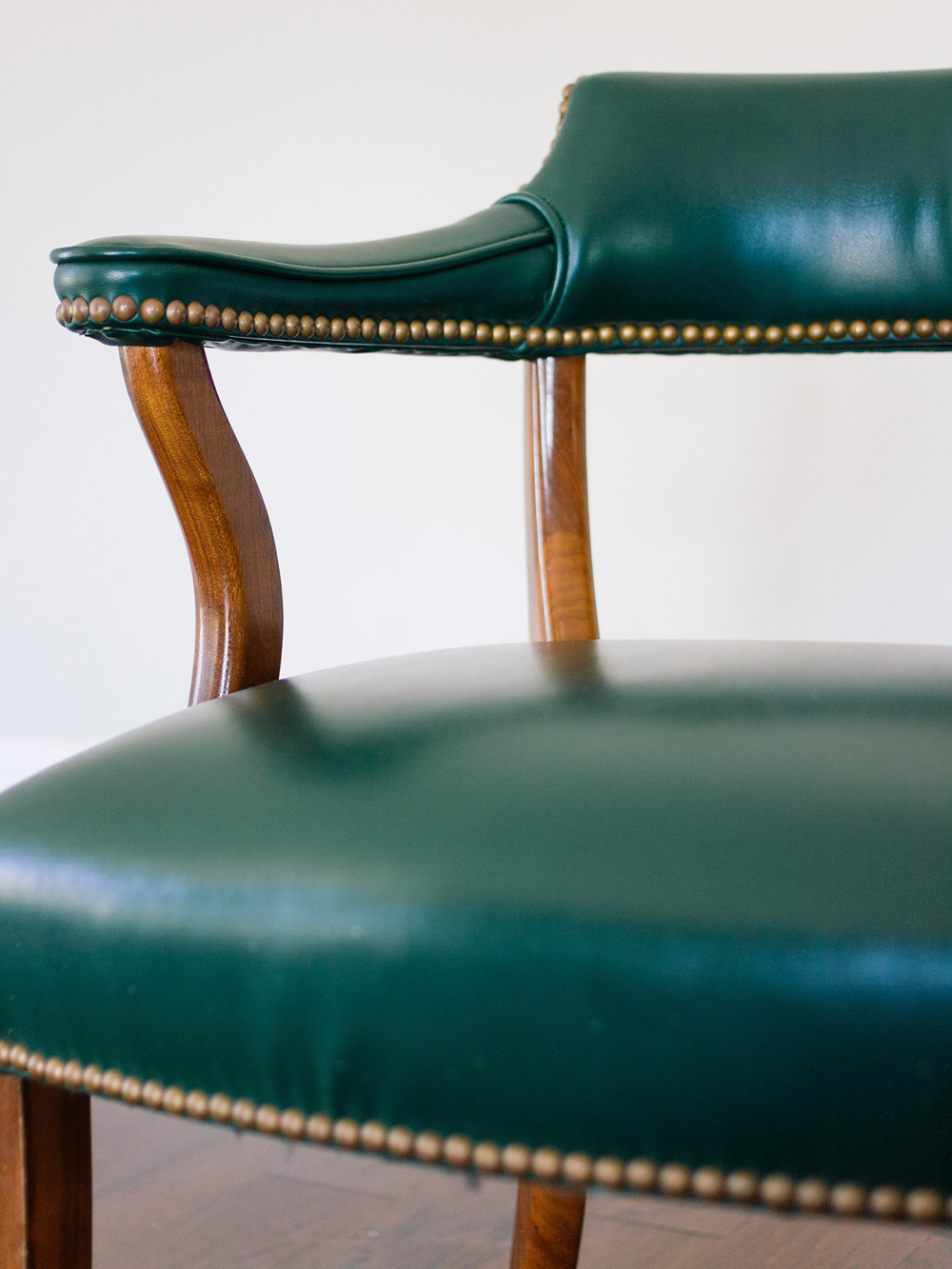 OLD BRAND NEW • VINTAGE NAILHEAD ARMCHAIR