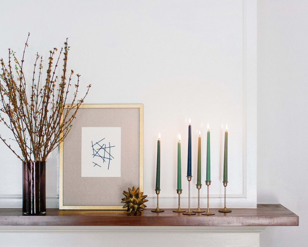 LIGHT UP YOUR MANTEL WITH FOOD52 BEESWAX TAPER CANDLES