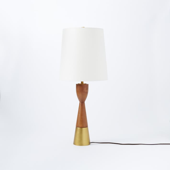Mid-Century Wood Table Lamp