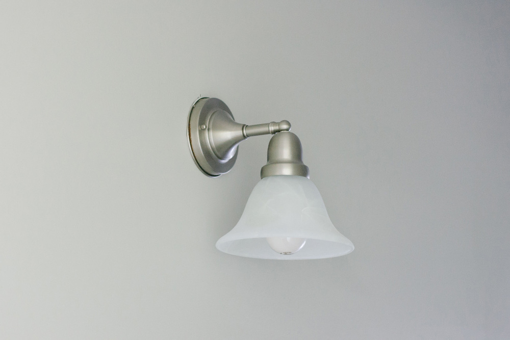 BEFORE + AFTER • HALLWAY LIGHTING • IKEA LILLHOLMEN SCONCE