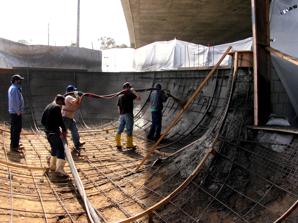 SPSA and WSVT crew building the Channel Street square bowl in 2004