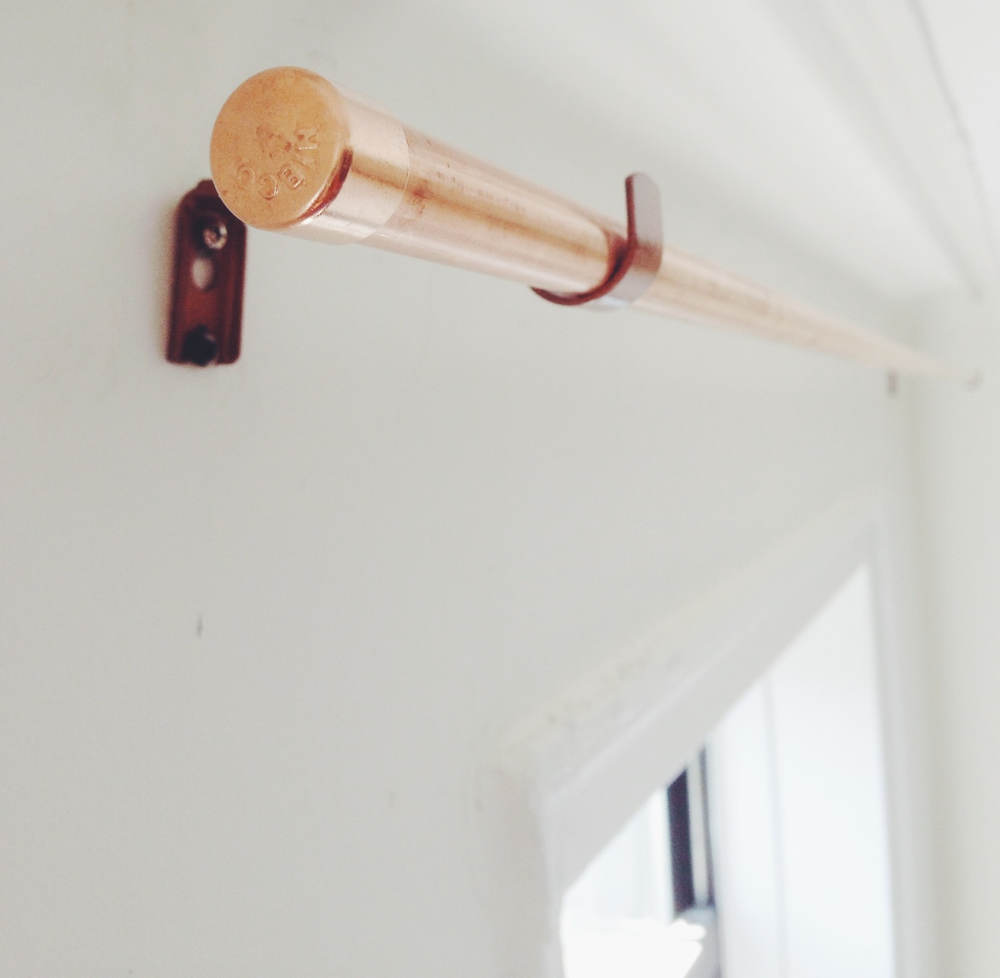 diy copper pipe curtain rod and bracket anne zeygerman