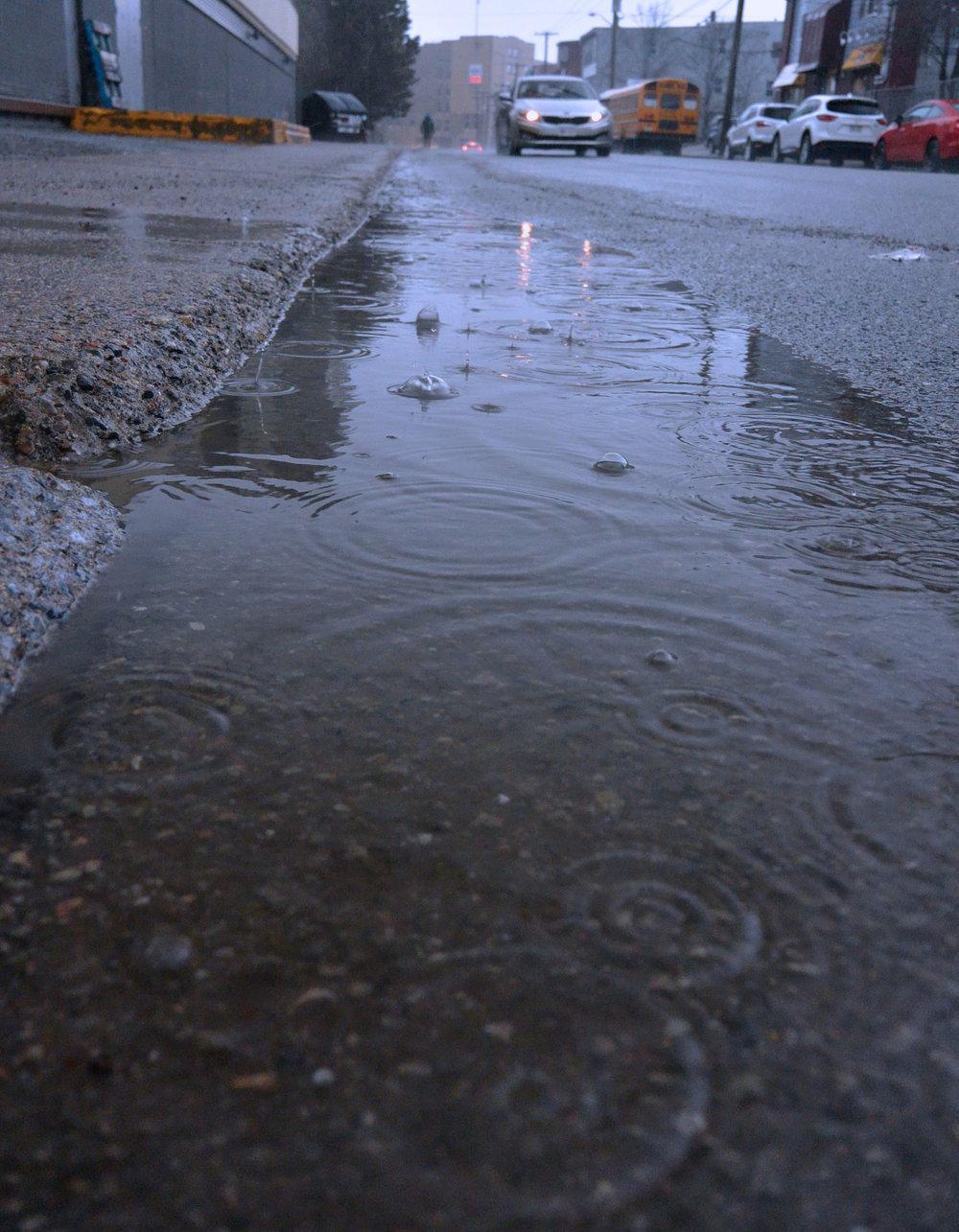 Storm water runoff in Saint John