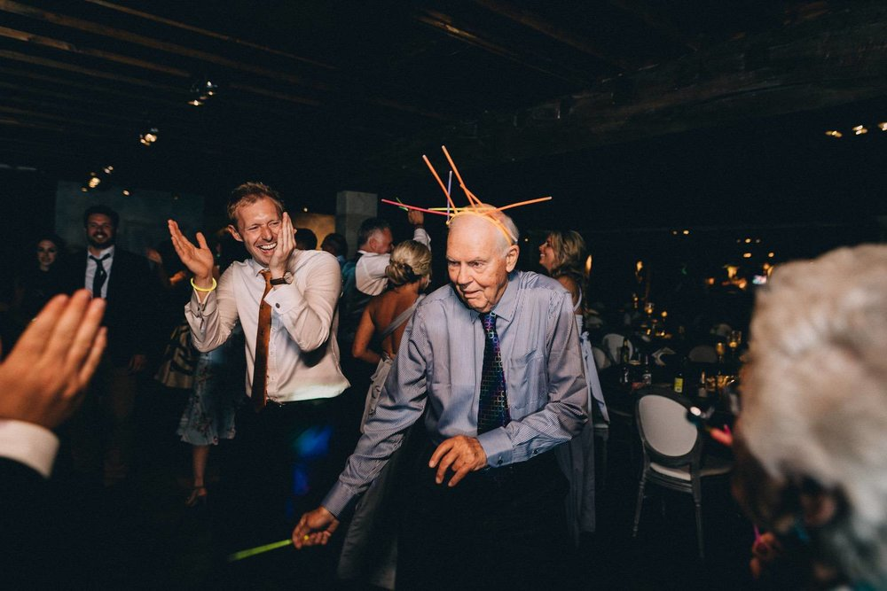 At the end of the night I come alive so the dance floor is my favourite part of the evening. By this point everyone is comfortable around me from kids to grandparents and everyone can be themselves. (1 second)