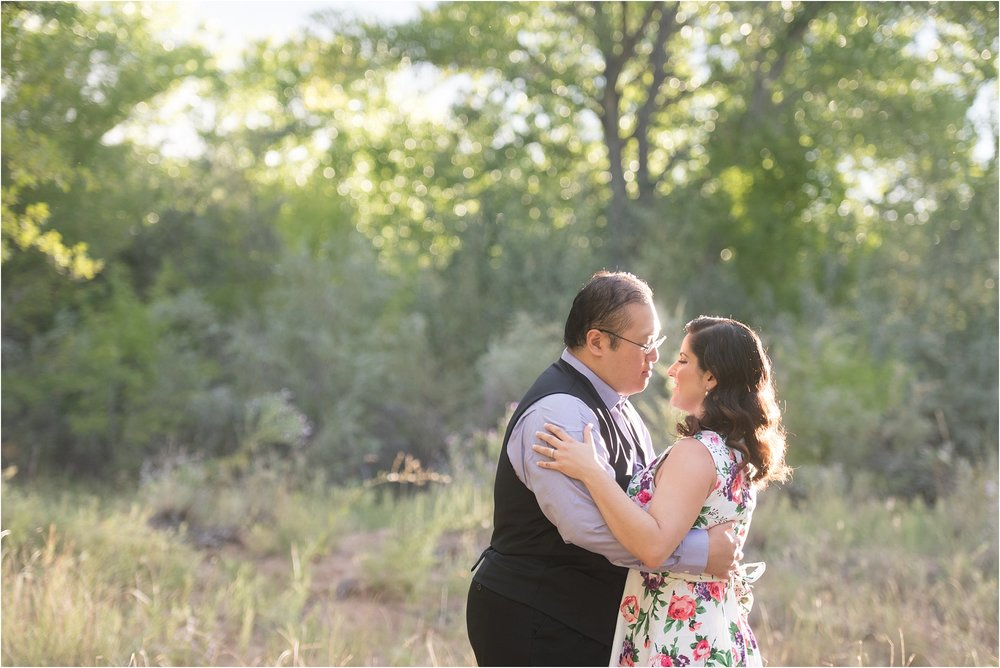 albuquerque wedding photographer, bosque engagement session, floral engagement dress, lavender and rose hair and makeup, engagement hair and makeup, new mexico wedding photographer