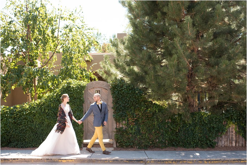 Inn of the Turquoise Bear wedding santa fe genica lee makeup artist chocolate maven bakery albuquerque wedding photographer elopement dogs at weddings