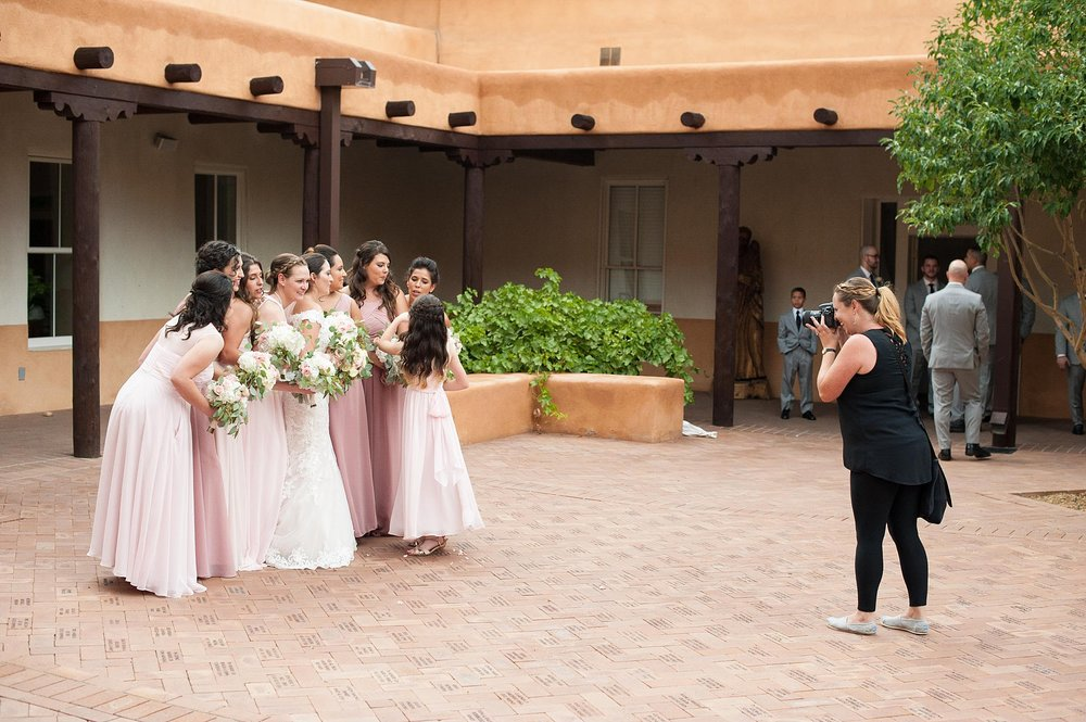 albuquerque wedding photographer old town church san felipe de neri best venue outdoor ceremony behind the scenes kayla kitts summer