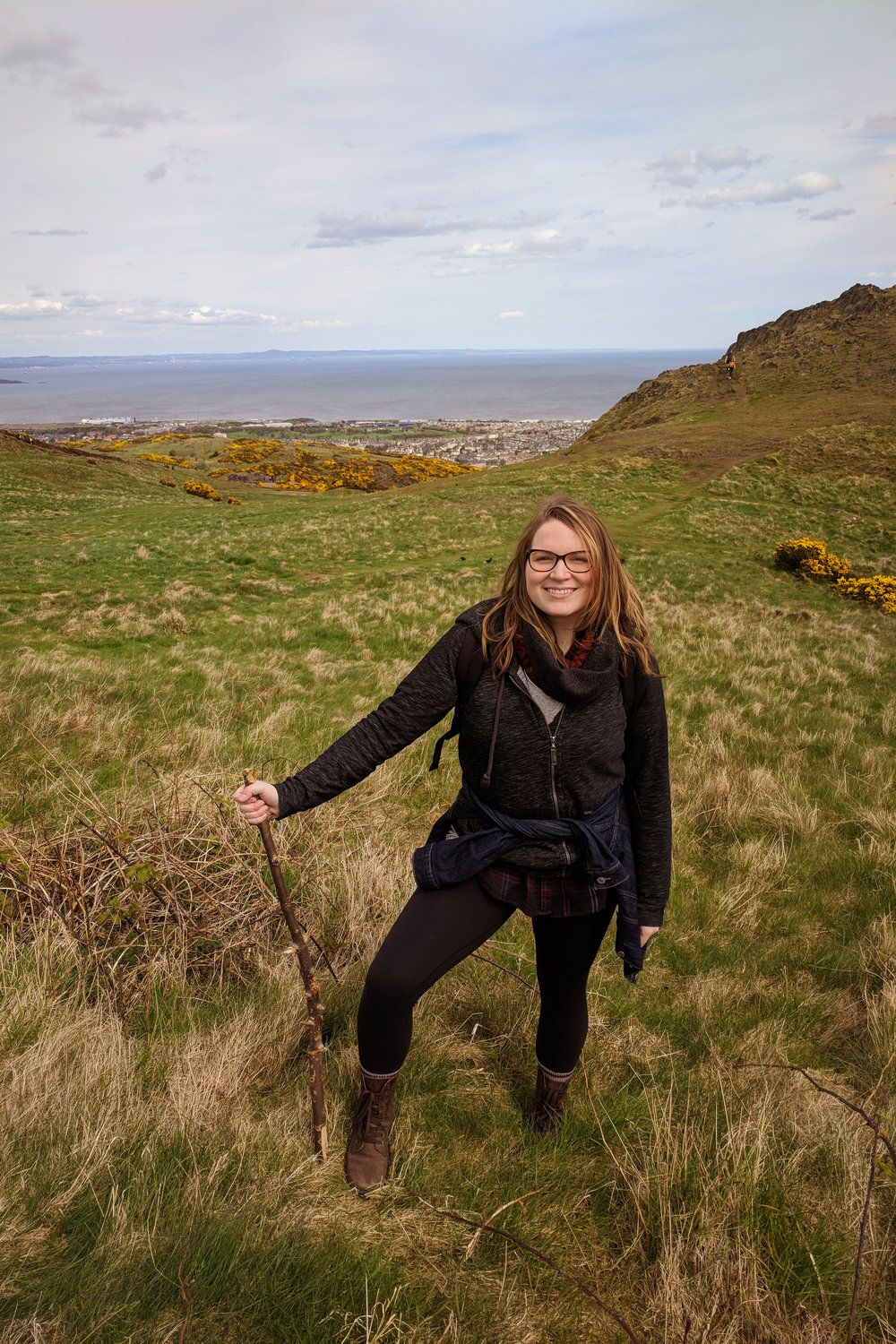 Hiking to Arthur's Seat in Edinburgh, 2018
