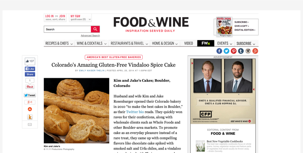 FOOD AND WINE - APRIL 25, 2014