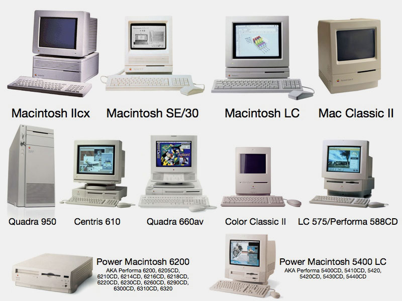 Apple Product Line 1990s