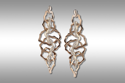 Acquafuoco gray and red gold earrings 18ct.