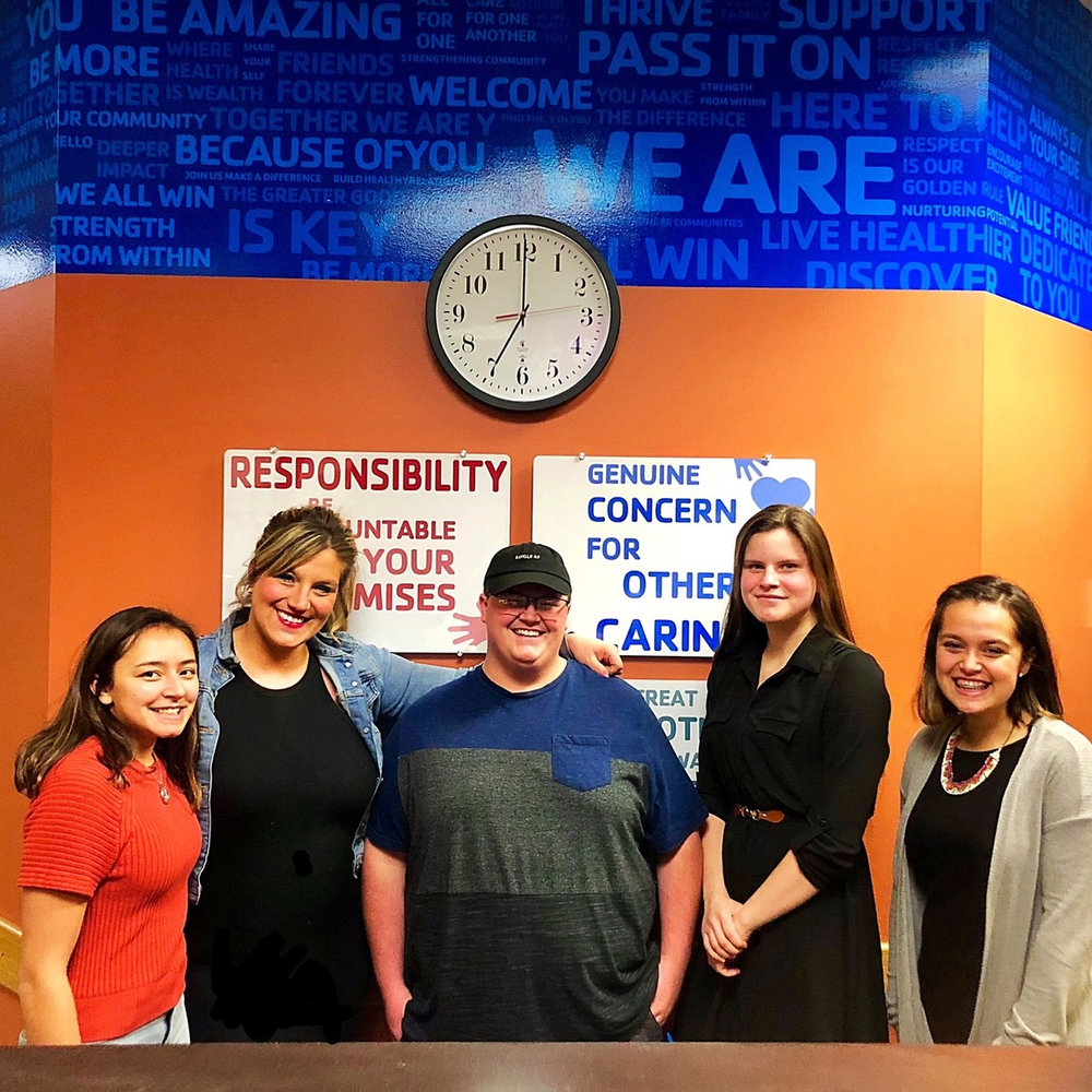 Youth Philanthropy Board - Pictured on the Right - Elaina Diaz, Montesano Junior