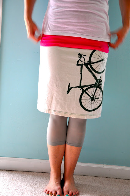 TShirt into Skirt Tutorial