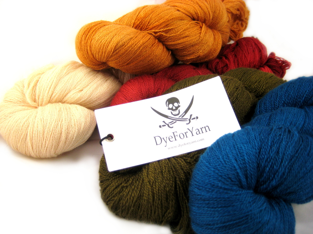 Dye for Yarn Merino, Cashmere and Silk Lace (c) YAK