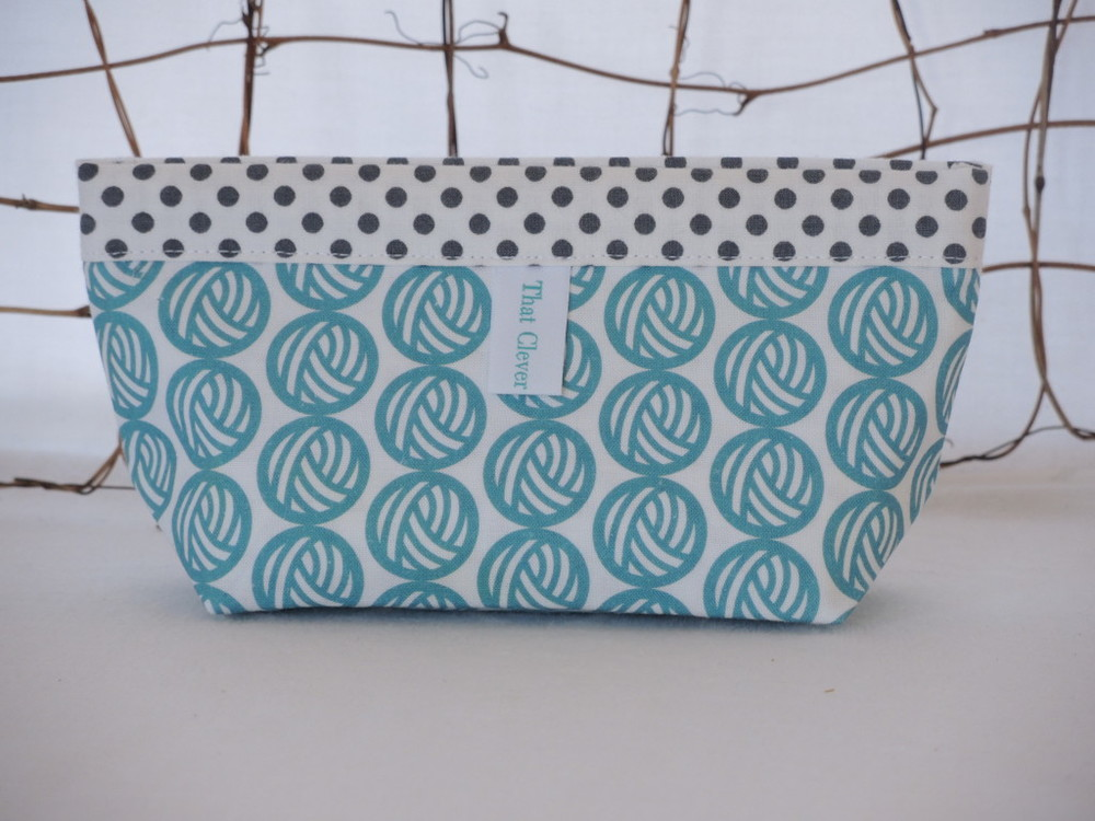 Clever Clementine Pouch in exclusive Indie Untangled fabric.